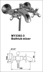 brass bathtub mixer tap