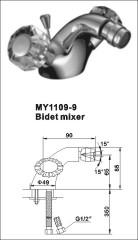 brass bidet taps mixer