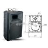 "8"" Empty Plastic Speaker Cabinets"