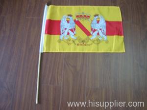 wood hand flag