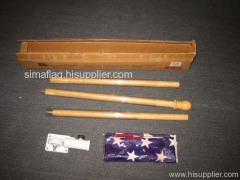 3 section wood pole