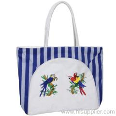 double handles beach bag