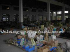 one corner of log splitter warehouse