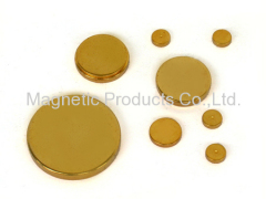 Gold Plated Neodymium Disc Magnet