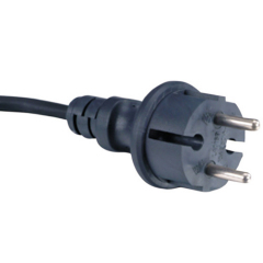 Schuko plug IP44 with VDE