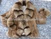 Fox Collar Rabbit Fur Coat