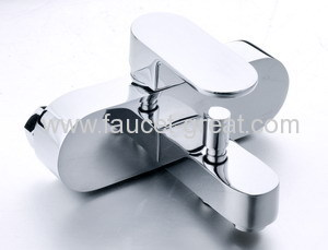 luxury square bath mixer