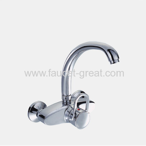 Wall-mounted single lever sink Faucets
