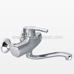 Single Lever Shower Faucet with Spout