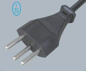 Swiss type power cord