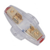 4 / 8GA Car AGU In-Line Fuses Holder (gold)