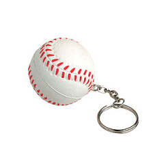 Baseball stress reliever key chain boy