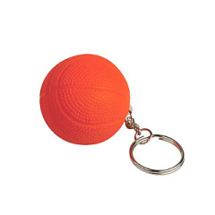 Basketball stress reliever key chain toy