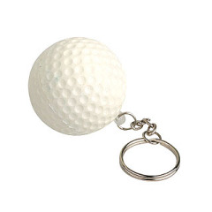Golf ball Stress Reliever key chain toy