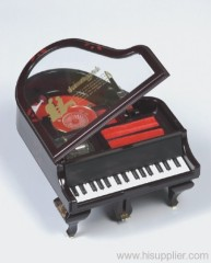 Piano Shaped Musical Jewelry Box