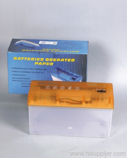Batteries Operated Paper Shredder
