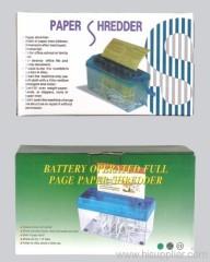 Battery Operated Paper Shredder