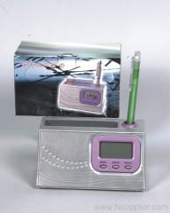 Radio With Pen Holder