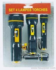 4pcs Torch Set