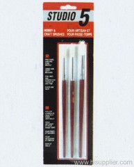 3pc Hobby&Craft Brush