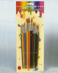 12pc Artist Brush Set Blister