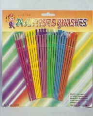 24pc Plastic Artist Brush Set
