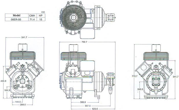 Hermetically Sealed Reciprocating Compressor Diagram