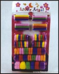 80pc Hair Bands Card