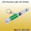 Aluminum LED Keychain Light with Whistle