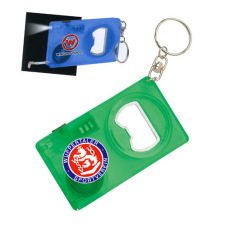 Key Chain with Tape Measure and LED Light