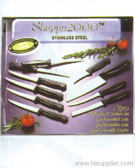 10pc Stainless Steel Knife Set
