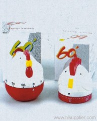 60 Minutes Kitchen Timer 2 Chicken Shape