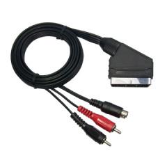 Scart Plug to 2RCA + MD4P Plugs
