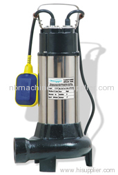WITH CUTTING SYSTEM SUBMERSIBLE SEWAGE PUMP