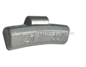 Zn clip on balance weights