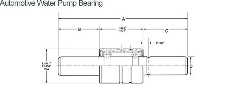 Automotive Water Pump Bearing WIB16301620S