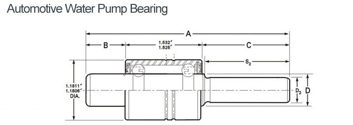 Automotive Water Pump Bearing WIB1630990S