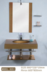 bathroom glass vanity