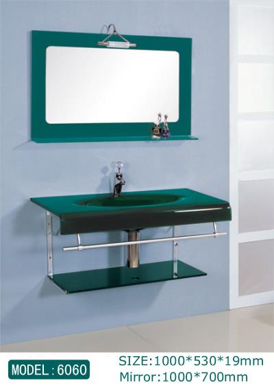 glass basin cabinets