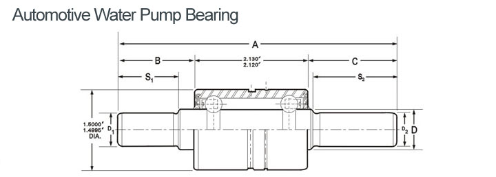 Automotive Water Pump Bearing