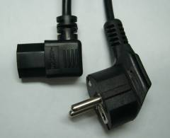 Schuko Plug with Angled IEC C13 connector