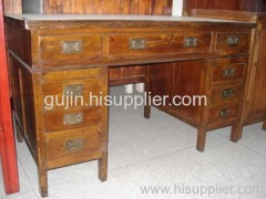 China elm wood desk