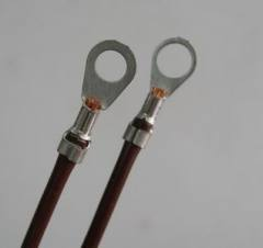 Insulated Ring Terminal on wires