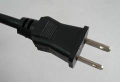 Japanese power cord with two flat pins