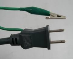 Japanese type power cord