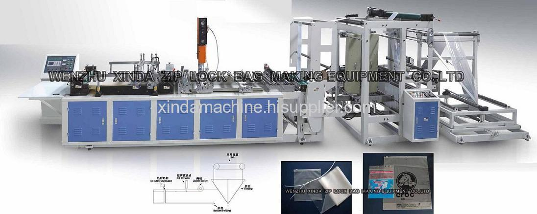 Zipper bag cutting and sealing machine