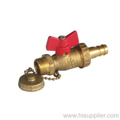 1/2''-3/4''; Brass Drain Plug Valve With T Handle,1.0Mpa