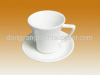 porcelain coffee cup and plate