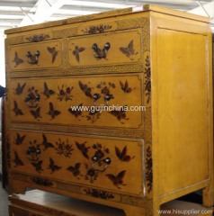 Antique reproduction buffet cabinet