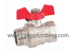 Ball valve with alum handle